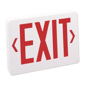 Nora Lighting NX603-LED/R - LED Exit Sign with Battery Backup,White Housing with Red Letters