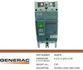 GENERAC  0G4478 - PART CB 200A240V 2P