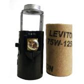 Leviton 10025 - Candelabra Holder Keyless Hickey Mount