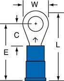 3M RV14-10Q - Ring Tongue Terminal 14-10 Vinyl Insulated - 25/Bag