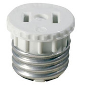 Leviton 125 - 2-Wire 2-Pole Lampholder to Outlet White
