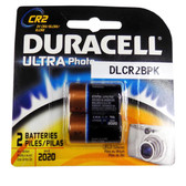 Duracell CR2 - Lithium 3V Photo Batteries - 2 Pak