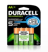 Duracell DX1500 - AA Rechargeable NIMH Batteries - 4 Pak