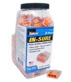 Ideal 30-1033J - In-Sure Push-In 3-Port Wire Connector 250/Jar
