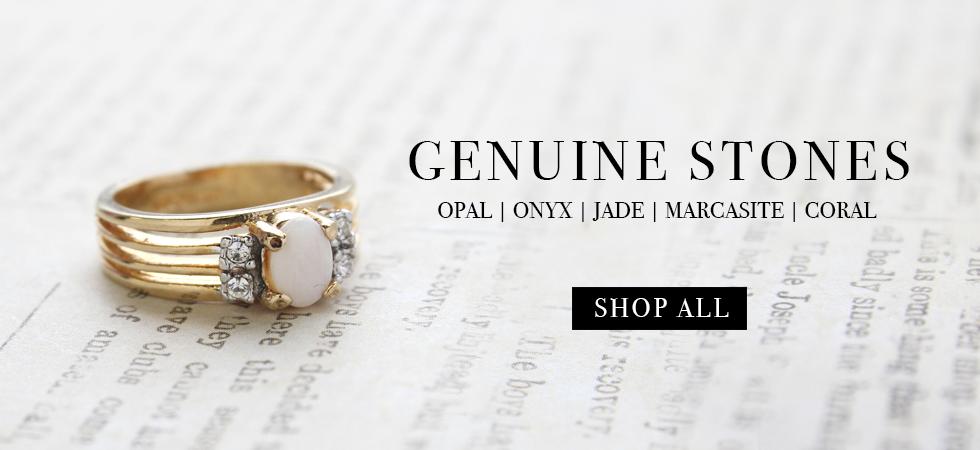 Providence Vintage Jewelry Genuine Stone Cocktail Rings
