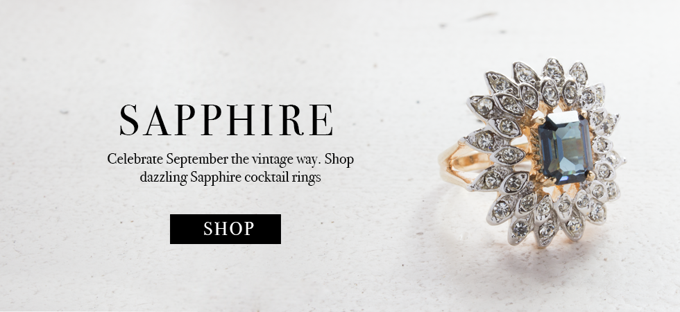 Providence Vintage Jewelry Sapphire Cocktail Rings - September's Birthstone