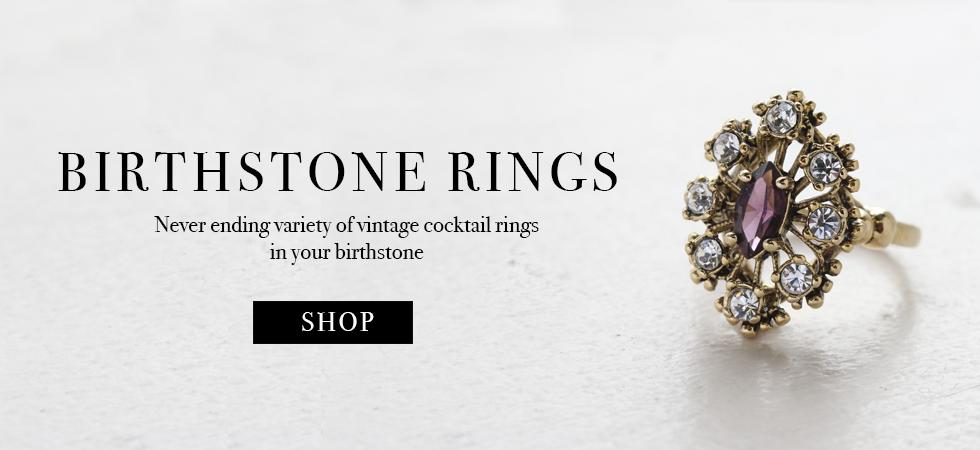 Providence Vintage Jewelry Birthstone Rings