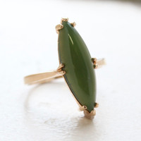 Rita Marquise Cut Genuine Jade Ring