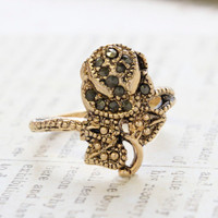 Rosalie Genuine Marcasite Rose Ring
