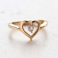 Bessie Crystal Heart Ring