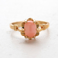 Tabitha Genuine Coral Ring