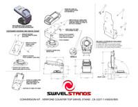 Swivel Stands Conversion Kit Adapter Plate, Verifone VX810 to VeriFone VX820/805