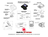 Swivel Stands Conversion Kit, Verifone MX to Ingenico iSC250 Low Profile