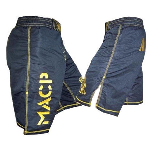 Youth MACP Kiddie Black and Gold Fight Shorts