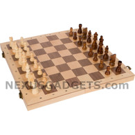Winston Chess Set - 16 Inch Rank and File Folding Wood Set