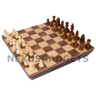 Wynter Chess Set - 16 Inch Borderless Inlaid Wood