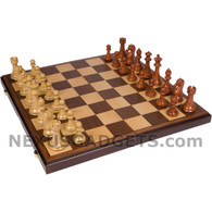 Arwen Chess Set in 21 inch Folding Case with Heavy Weight Polymer Pieces