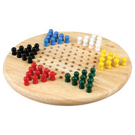 Chinese Checkers Set with Round Board and Pegs