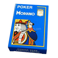 Modiano Single Deck Italian Plastic Playing Cards - Blue Poker Deck