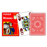 Modiano Single Deck Italian Plastic Playing Cards - Red Poker Deck