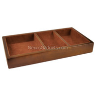 Wood Valet Tray with Brown Felt