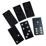 Black Wood Dominoes - Double Six Set