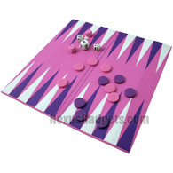Larkhon Backgammon in Pink Laminate Octo Rollup Case
