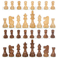 "Sheesham Chess Pieces - 3.5"" King - BOARD NOT INCLUDED - Made in India"