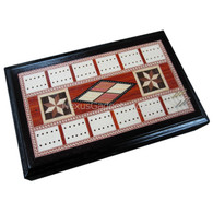 Spielburg Cribbage, Dice, and Cards in 8 Point Star Wood Case