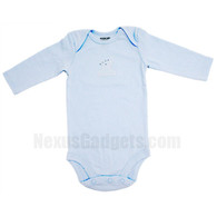 Organic Baby Shirt (set of 3) (Long Sleeves/Blue/Small)