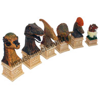 Ben Homer Chess Set with Dinosaur Theme - REPLACEMENT CHESS PIECES ONLY