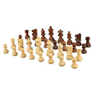 "Sheesham Chess Pieces - 2.5"" King - BOARD NOT INCLUDED - Made in India"