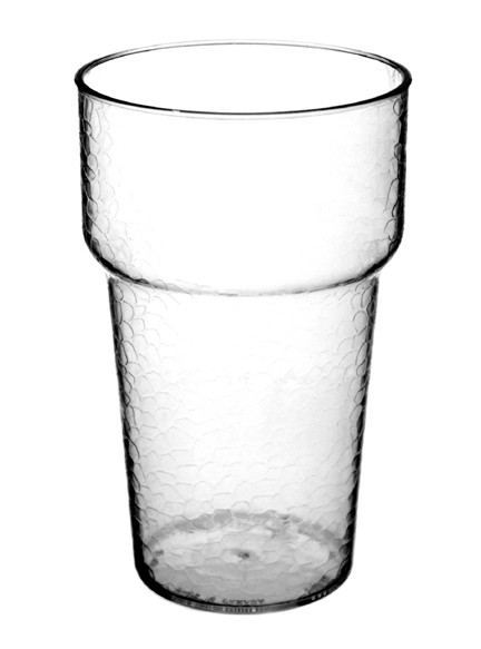 Textured Clear Plastic Beer Glass in 12, 16, and 20oz.