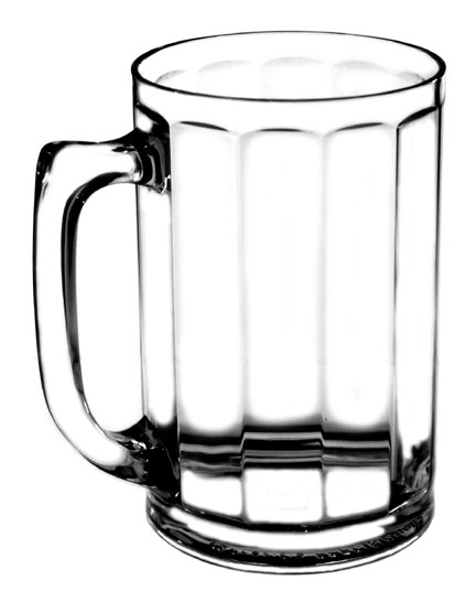 Faceted Plastic Beer Mug 15oz.