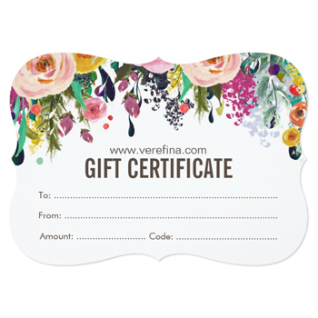 Verefina Gift Certificates