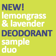 Lemongrass & Lavender Deodorant Sample Duo