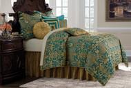 Aristocrat Turquoise Queen Comforter Set (Set of 9) (BCS-QS09-ARICRT-TUR)