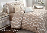 Como Taupe Queen Comforter Set (Set of 9) (BCS-QS09-COMO-TAUP)