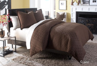Leigh Cocoa King Coverlet/Duvet (Set of 3) (BCS-KD03-LEIGH-COC)