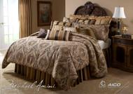 Lucerne Gold Queen Comforter Set (Set of 12) (BCS-QS12-LUCERN-GLD)