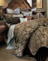 Portofino Brown Queen Comforter Set (Set of 12) (BCS-QS12-PRTFNO-BRN)