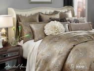 Solitaire Pewter Queen Comforter Set (Set of 12) (BCS-QS12-SOLITR-PEW)