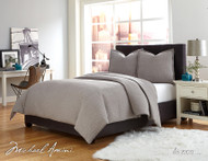 Trent Grey Queen Coverlet/Duvet (Set of 3) (BCS-QD03-TRENT-GRY)