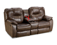 Avalon Custom Reclining Loveseat W/ Adjustable Lumbar (Leather) (SOU-838-51P-LUMB-LEATHER)