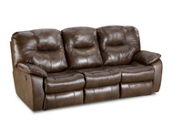 Avalon Custom Reclining Sofa W/ Dropdown Table and Adjustable Headrest (Leather) (SOU-838-63P-LEATHER)