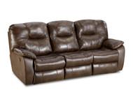 Avalon Custom Reclining Sofa W/ Dropdown Table and Adjustable Lumbar (Leather) (SOU-838-63P-LUMB-LEATHER)