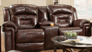 Avatar Custom Reclining Loveseat W/ Console (Leather) (SOU-843-28-LEATHER)
