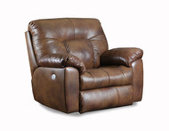 Big Shot Custom Reclining Chair and a Half W/ Adjustable Headrest (Leather)