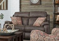 Blue Ribbon Custom Reclining Loveseat W/ Pillows and Adjustable Headrest (Leather) (SOU-749-51P-PIL-LEATHER)