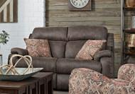 Blue Ribbon Custom Reclining Loveseat W/ Pillows and Adjustable Lumbar (Leather) (SOU-749-51P-LUMB-PIL-LEATHER)